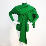 vintage claude montana wrap wool wrap sweater