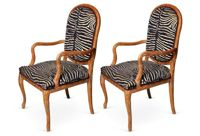 vintage italian hand carved armchairs