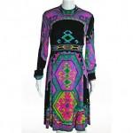 vintage leonard paris silk dress