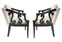 vintage midcentury carved chairs