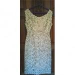 vintage midcentury italian raffia dress