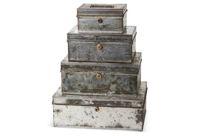 vintage steel document boxes