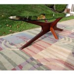 vintage 1960s adrian pearsall walnut coffee table