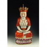 antique 18th century porcelain buddha