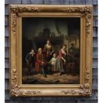 antique 19th century belgian oil painting