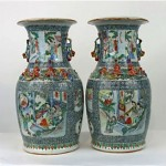 antique 19th century chinese famille rose vases