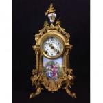 antique french sevres porcelain mantel clock