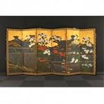 antique japanese folding screen