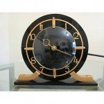 vintage 1930s brass and lucite electric clock