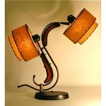vintage 1950s majestic z table lamp