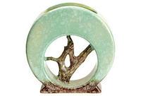 vintage 1951 roseville tree vase