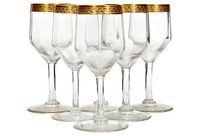 vintage 1960s gilt rim wine glasses