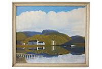 vintage 1970s dan hogart scottish highlands painting