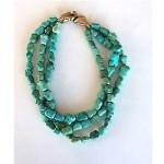 vintage 1980s patricia von musulin turquoise necklace