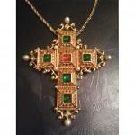 vintage christian dior cross necklace