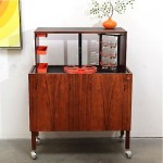 vintage kai kristiansen rosewood hydraulic bar cabinet