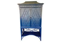 vintage lacquered pagoda cabinet