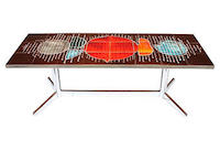 vintage midcentury tile top coffee table