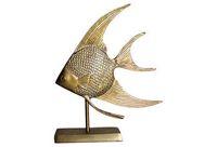 vintage mounted brass fish