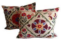 vintage suzani fragment pillows
