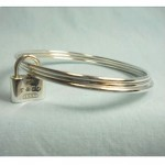 vintage tiffany sterling bangle bracelets with lock