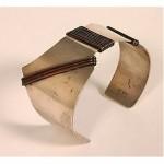vintge henry steig modernist sterling cuff