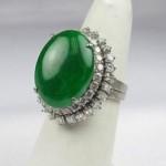 vintage 14k jade diamond ring