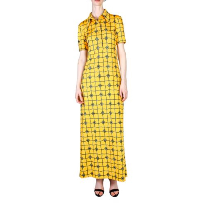 vintage gucci maxi shirt dress